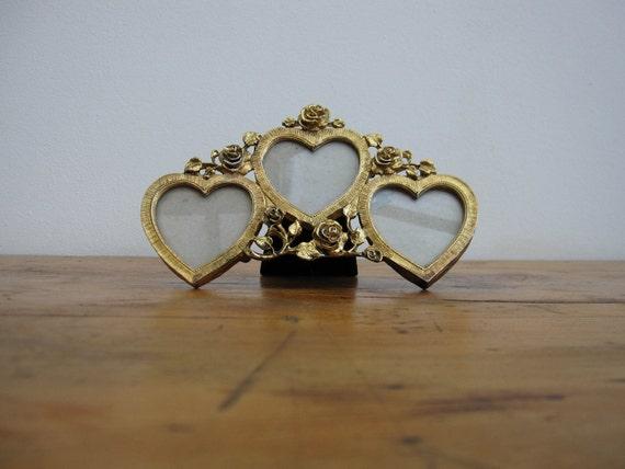 SALE 50% OFF - Vintage Photograph Frame - Love Hearts/Romantic/Cottage Chic //HG37