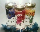Easter Candles, Spring Centerpiece, Floating Candle Centerpieces, Mother's Day, Flower Centerpiece, Love