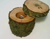 Rustic Log Jewelry Box, Ring Bearer Box, Keepsake Box