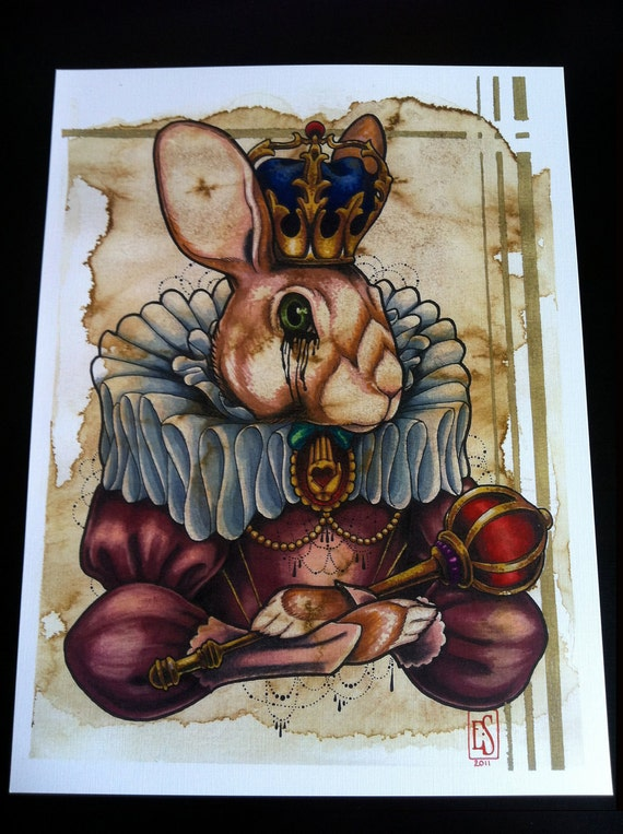 "Print of ""Rabbit Queen"""