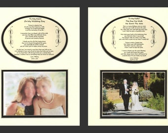 Wedding Mother and Father of the Bride personalized gifts, one for each