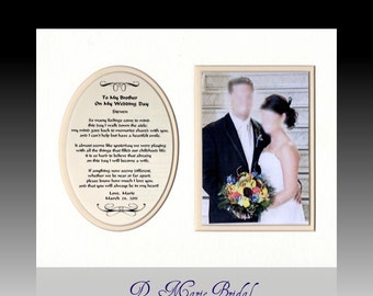 Weddings To My Brother on My Wedding Day Personalized Gift from Bride Wedding Favor