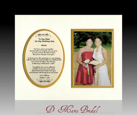Wedding Gifts For The Bride From A Sister : ... Gifts Guest Books Portraits & Frames Wedding Favors All Gifts