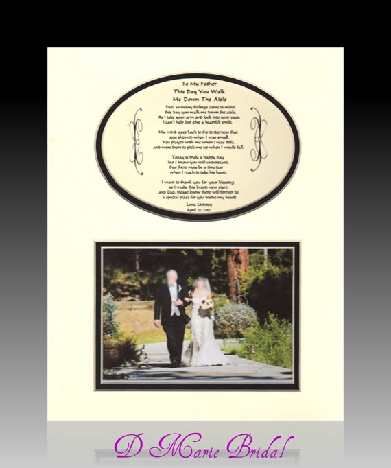 Wedding Father of the Bride Personalized This Day You Walk Me Down The Aisle Gift Bridal Wedding Favor