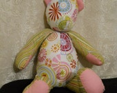 ON SALE Price reduced 25%  Candy - 18 inch Calico Bear