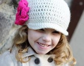 Sweet Bimmed Hat with optional Flower