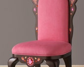 Pink Tiara  Chair with Paisley Design
