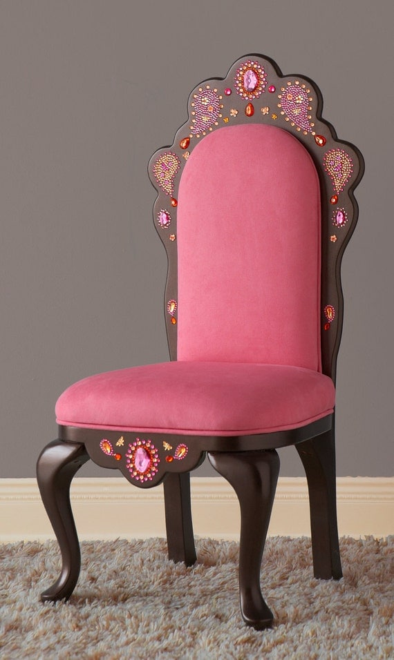 Items Similar To Pink Tiara Chair With Paisley Design On Etsy