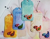 Quilled Gift Tags (set of five) - Indian Motif