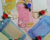 Quilled Gift Tags (set of five) -Flora