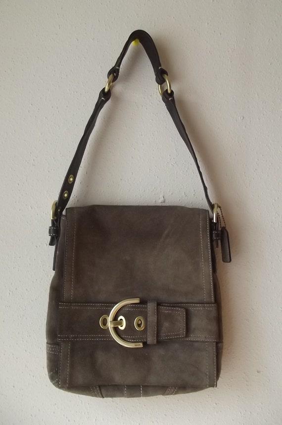 SALE Authentic Suede Vintage Coach Handbag
