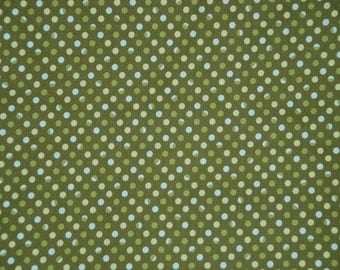 Marcus Brothers fabric Bleeker Street DOTS ON GREEN