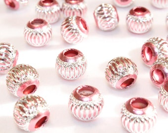 10pcs Pink Aluminum Beads/ Basketball wives/ Acrylic Beads/13mm