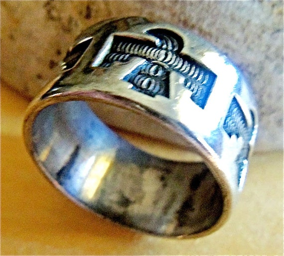 Vintage Sterling Silver Thunderbird Ring