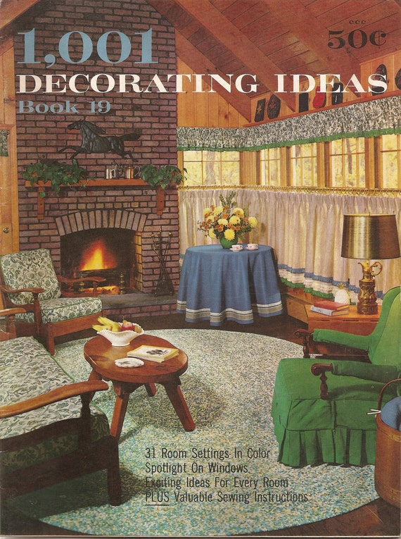 60s home decoration booklet 1963 vintage consos 1001 decorating ideas book 19 - 60s Home Decor