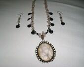 Rhiannon necklace and earrings