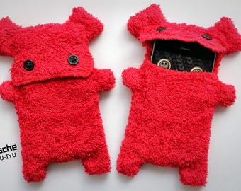Fellfische - fluffy Cellphone Case for Iphone - Red