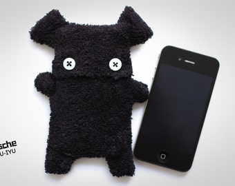 Fellfische - fluffy Cellphone Case for Iphone - Black