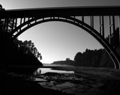 Bridge to the Pacific Fine Art Photography Print 11x14 Black and White Coast