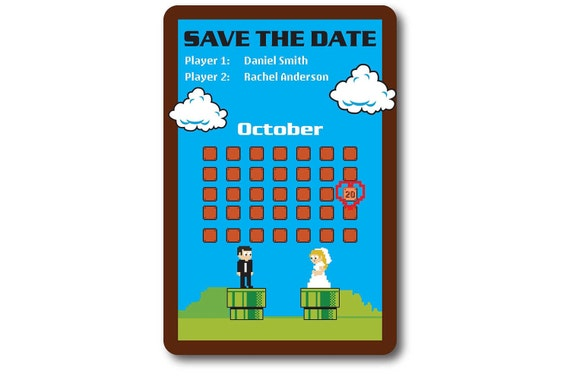 Nintendo Wedding Invitation Design 2