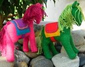 """4"""" Felt Horse (Berry Pink )"""