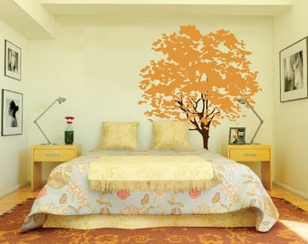 Large Wall Tree Decal Nursery Mural Kids Removable Branches Leaves Custom 1117 (5 feet tall)