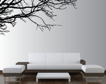 Large Wall Tree Nursery Decal Oak Branches Wall Art 1130 (6 feet wide)