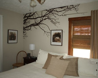 Large Wall Tree Nursery Decal Oak Branches Wall Art 1130 (7 feet wide)