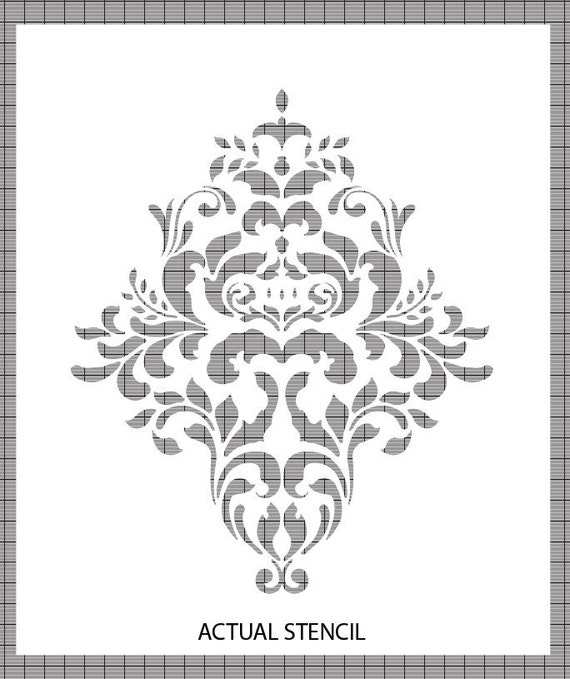 Large Wall  Damask STENCIL Pattern FAUX MURAL 1005