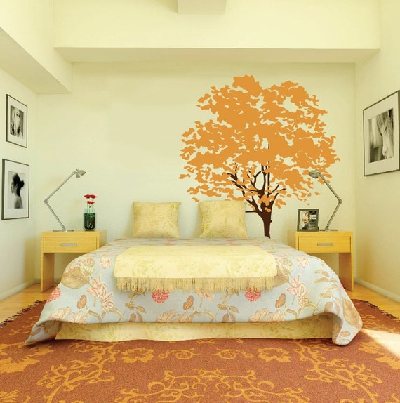 Large Wall Tree Decal Nursery Mural Kids Removable Branches Leaves Custom 1117 (8 feet tall)