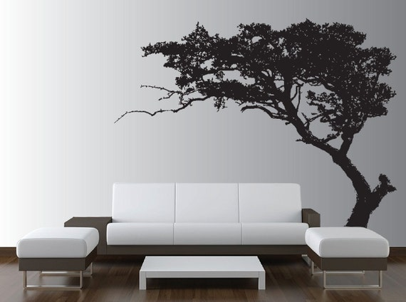 Large Wall Tree Decal Forest Decor Vinyl Sticker Highly Detailed Removable Nursery 1131 (6 feet tall)