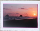 Photo Card: Purple sunset, California, beach