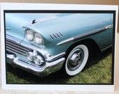 Photo Card, classic car, 1960 Chevy Impala
