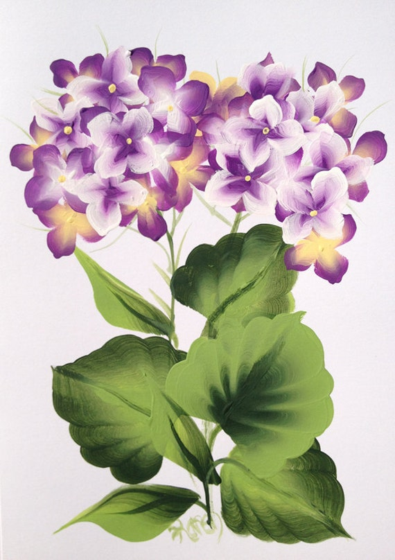 Hydrangea Hand Painted Greeting Card