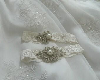 vintage garter , bridal garter, wedding garter, garter , lace garter, crystal garter