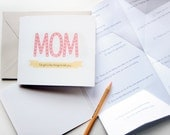 Expandable card - Mother's Day