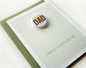 Button Card - Father's day - Dad, thank you for being the best