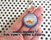 Fish Bowl Glass Tile Pendant Handmade Jewelry SALE SAVE 1.50