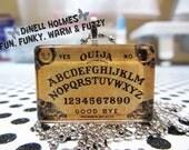 CLEARANCE SALE Ouija Board Glass Tile Pendant  Large Handmade Halloween Wicca Spiritual Jewelry