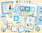 Boy PARIS Baby Shower DIY Party Printables Package. Blue and Yellow. Party Printables customized just for you.