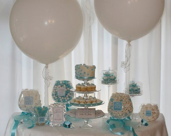 Elegant Blue Candy or Dessert Buffet Package. Customized just for you. Great for Wedding Receptions, Bridal Showers and more.
