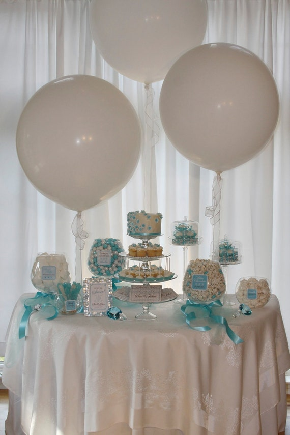 Items Similar To Elegant Blue Candy Or Dessert Buffet
