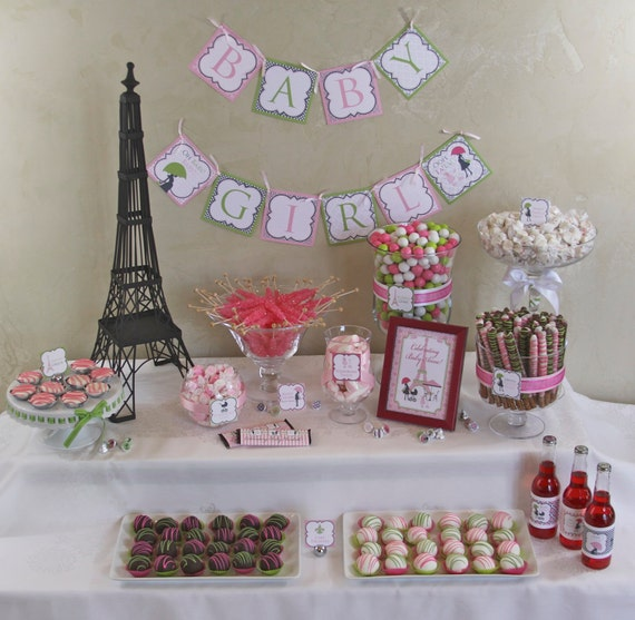 Paris Baby Shower Cake: Items Similar To Chic PARIS Baby Shower DIY Party