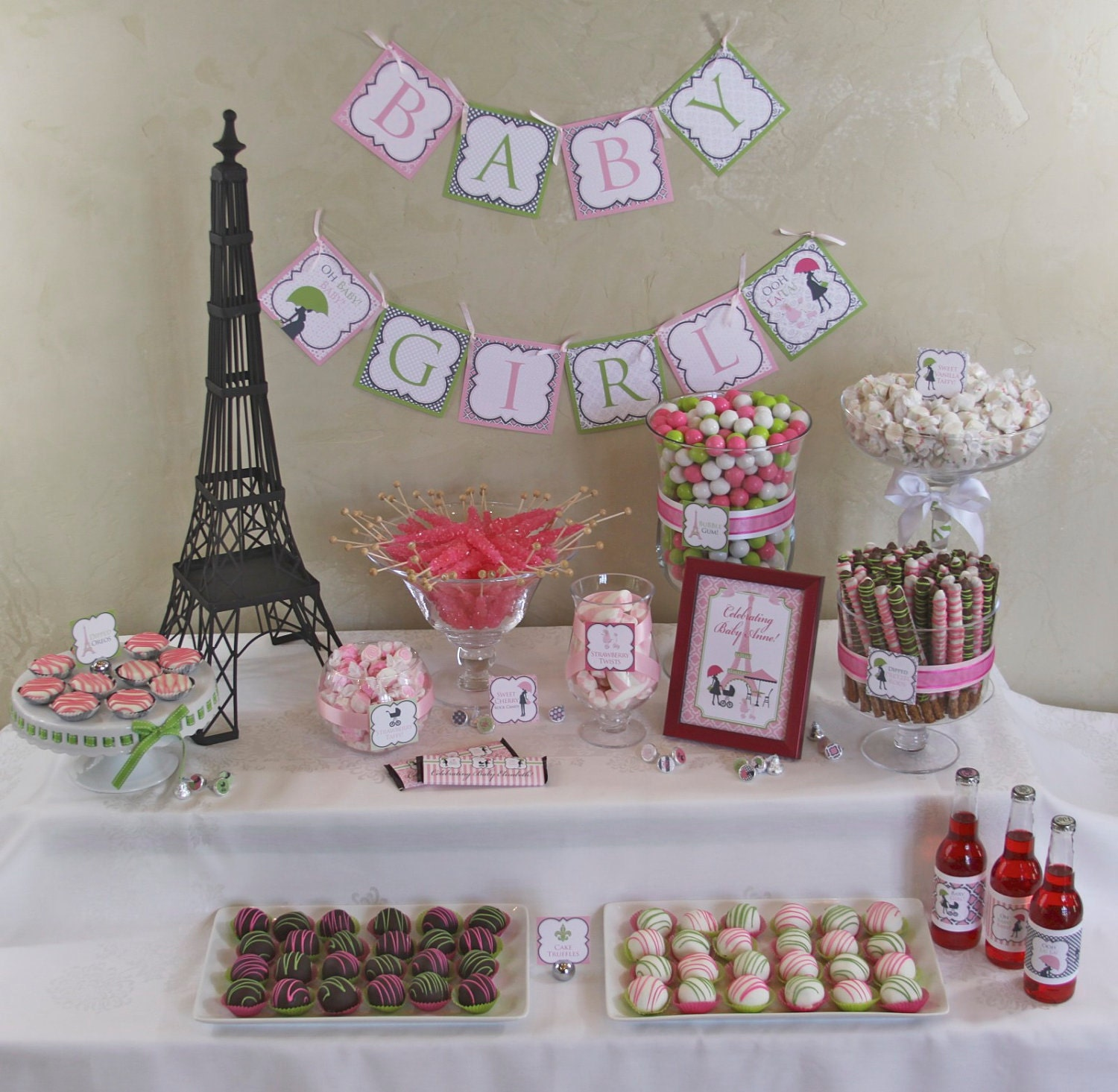 Paris Baby Shower Cake: Chic PARIS Baby Shower DIY Party Printables By