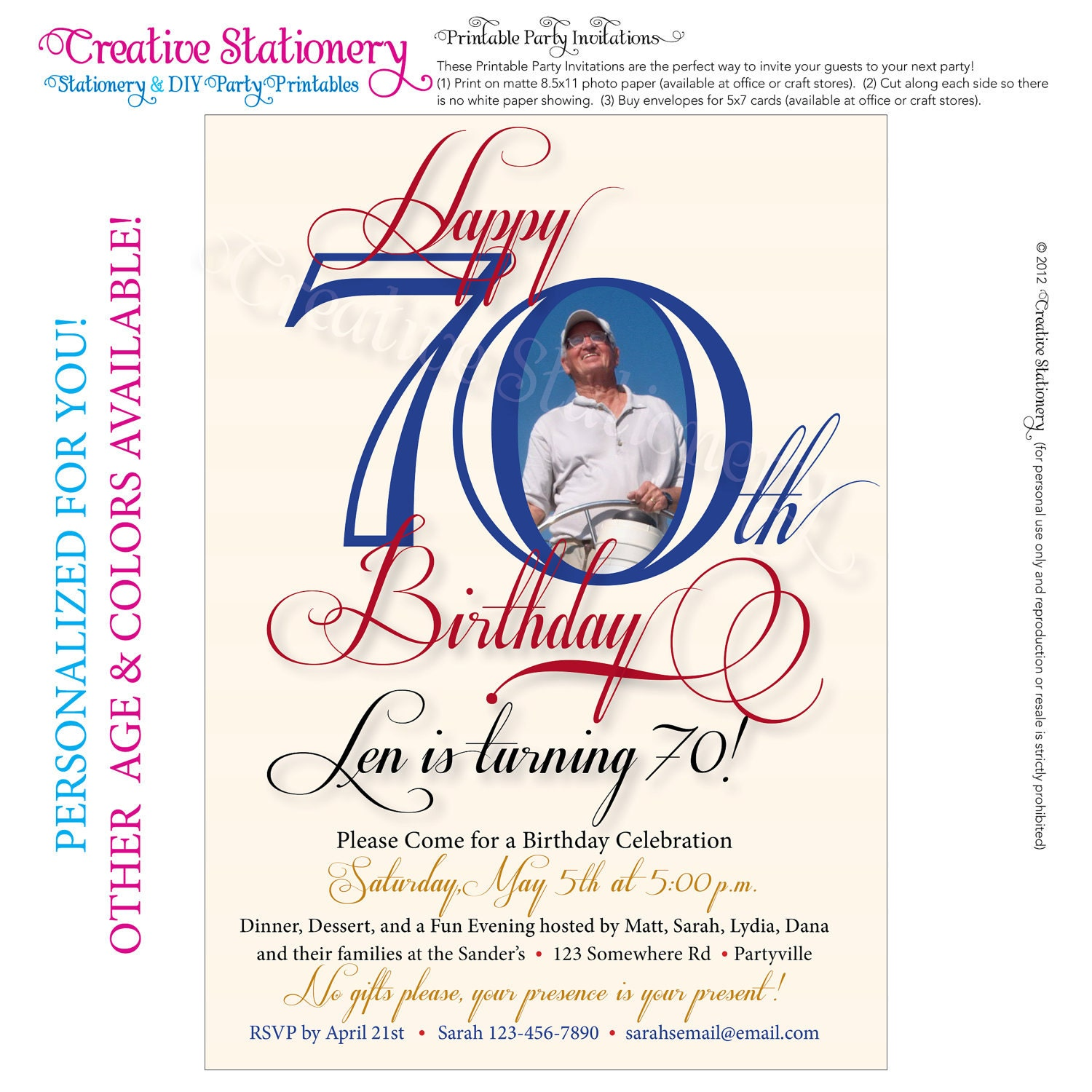70Th Birthday Party Invitations Free with great invitations layout
