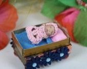 Ooak Tiny Baby Girl ( Polymer Clay Baby) Baby Eva (Matchbox Miracles)