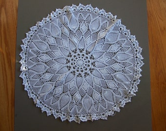 Hand made crochet doily