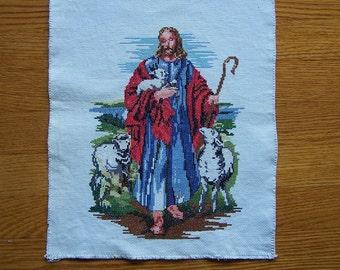 Jesus and sheep