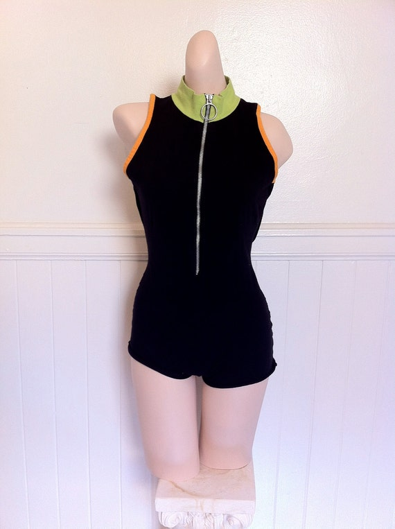90ies Fly girl backless romper