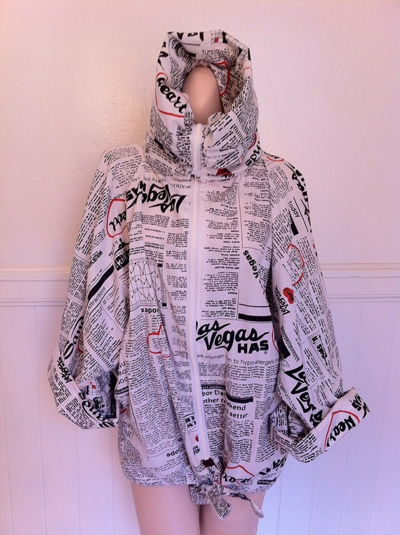 So Moschino news print oversized jacket